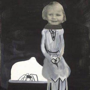 Louise_inkt gouache en collage op papier_22x30cm