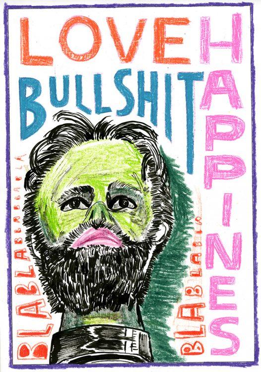 LoveBullshit_potlood en inkt op papier_21x30cm