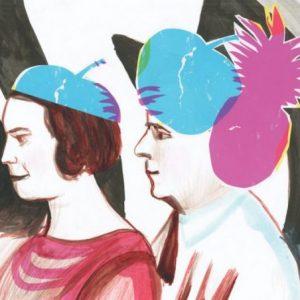 het echtpaar Delaunay_gouache en collage op papier