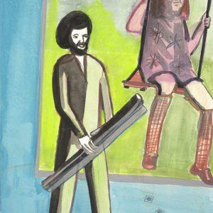 z.t. (schommel) _gouache en potlood op papier_21x30cm